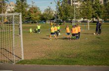 Susivienijusi Pilaitės bendruomenė atnaujino futbolo aikštelę