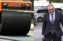 Panevėžio merui R. M. Račkauskui – stebuklingas asfaltas