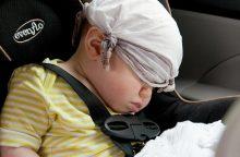 Avarijoje sužalota dvimetė buvo vežama be saugos kėdutės