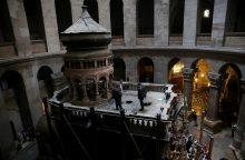 Jeruzalės Kristaus Kapo bažnyčioje pradedami restauravimo darbai