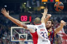 """Eurolyga: """"Crvena Zvezda"""" nugalėjo """"Barcelona"""""""