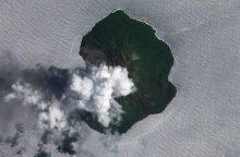 Saliamono salose išsiveržė ugnikalnis
