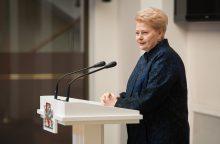 Prezidentė siūlo atverti žiniasklaidai Registrų centro istorinius duomenis
