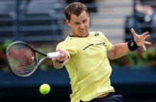 Tenisininkas R. Berankis pasaulio reitinge pakilo į 82-ąją vietą