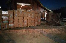 Alytaus rajone likviduotas didžiulis cigarečių sandėlis, jų vertė – per 0,5 mln. eurų