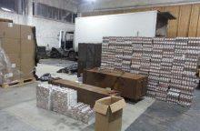 Marijampolėje aptiktas kontrabandinių cigarečių sandėlis