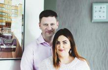 Kauno vicemeras S. Kairys su žmona Deimante jau sūpuoja naujagimę