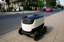Talino gatvėse bandomi pašto robotai