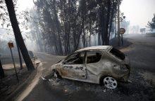 Portugalija mini tragiškų gaisrų metines