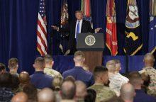 D. Trumpas siunčia į Afganistaną tūkstančius karių