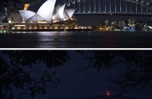 Žemės valanda: užtemo Sidnėjaus šviesos