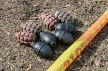 Kretingos rajono seniūnijos tualete – granatos ir rusiški šoviniai