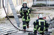 Kelmės rajone ceche kilo gaisras, įtariamas padegimas