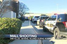 Per apiplėšimą Teksaso prekybos centre nušautas žmogus