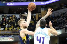 """NBA: D. Sabonis prisidėjo prie """"Pacers"""" pergalės"""