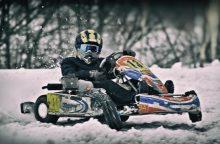 Kartingo žiemos varžybose – svečiai iš užsienio