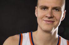 """K. Porzingis pasiruošęs prisiimti lyderio vaidmenį """"Knicks"""" klube"""