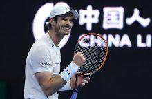 A. Murray turnyrą Vienoje pradėjo pergale