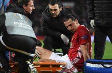 """Europos lyga: """"Man Utd"""" išvargo kelialapį, bet ilgam neteko Z. Ibrahimovičiaus"""