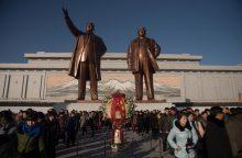Šiaurės Korėjoje minimos šeštosios K. Jong Ilo mirties metinės