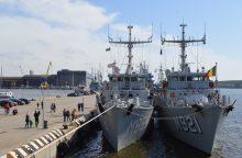 Uoste laivas kliudė Karinių jūrų pajėgų laivą