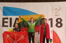 Lietuvos rekordą pagerinusiai lankininkei – Europos čempionato auksas