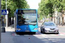 Per dviratininko sukeltą avariją susižalojo autobusu važiavusi moteris