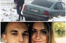 Įsimylėjėliai apsireiškė sugedus mašinai