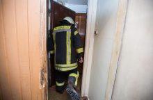 Ugniagesiai ir policija ieškojo lavono