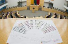 Pritaria, kad būtų naikinama Seimo narių teisinė neliečiamybė