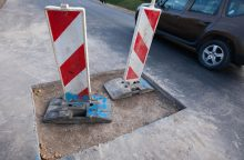 Išdraskė naujai paklotą asfaltą