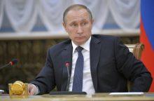 V. Putinas sutiko su ginkluota ESBO misija Ukrainos rytuose