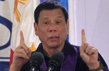 Pentagono vadovas: Filipinų prezidento pareiškimai apie Hitlerį kelia nerimą