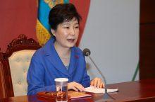 Nuogos Pietų Korėjos prezidentės paveikslas išprovokavo smurto protrūkį