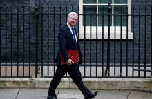 Britanija neigia pranešimus apie nepavykusį balistinės raketos bandymą