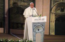 Egipte viešintis popiežius: smurtas negali būti vykdomas Dievo vardu
