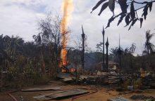 Indonezijoje per gaisrą naftos gręžinyje žuvo daugiau nei 20 žmonių