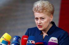 D. Grybauskaitė dalyvaus Azijos ir Europos forume