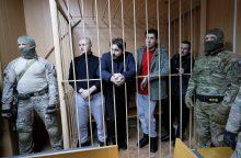 Rusija pratęsė ukrainiečių jūrininkų suėmimą