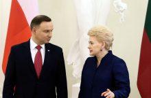 D. Grybauskaitė Lenkijoje aptars saugumo ir gynybos klausimus