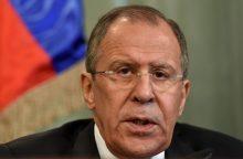 S. Lavrovas: JAV sankcijos kelia grėsmę mūsų santykiams