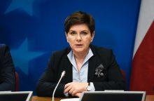 Lenkijos premjerė: Romos deklaracija priimtina visoms ES narėms