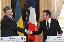 E. Macronas: Prancūzija nepripažins Krymo aneksijos