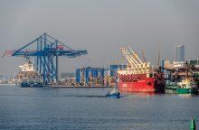 Į Klaipėdą atplaukia didžiausias uosto istorijoje konteinerių laivas