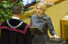 V. Ačienė prašo suspenduoti jos darbą Antikorupcijos komisijoje
