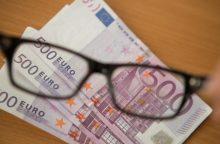 Palangoje rasta netikrų 500 eurų kupiūrų