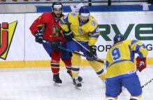 Pasaulio ledo ritulio čempionate Ukraina nesunkiai nugalėjo Rumuniją
