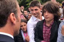 Prancūzijos prezidentas griežtai pamokė paauglį