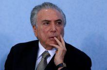 Brazilijos teisėjas nurodė paleisti eksprezidentą M. Temerą