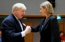 Nepasitraukusi iš ES Britanija negali derėtis su JAV dėl prekybos sutarties